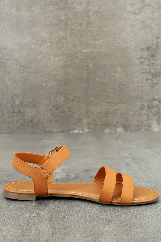 Euphrates Tan Flat Sandals 4