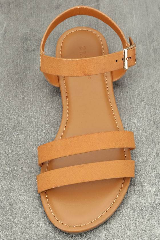 Euphrates Tan Flat Sandals 5