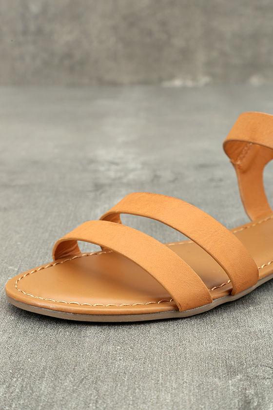 Euphrates Tan Flat Sandals 6