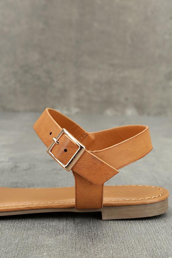 Euphrates Tan Flat Sandals 7
