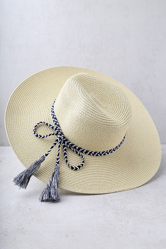 New Me Beige Floppy Straw Hat 3