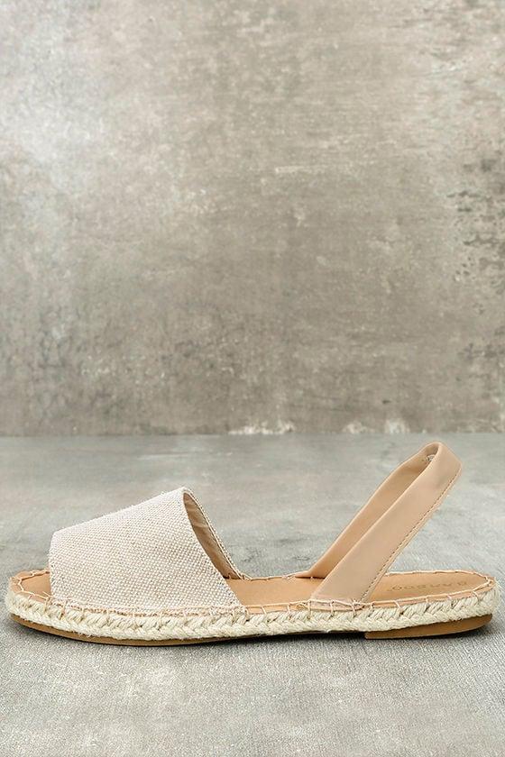 Oceanic Natural Espadrille Sandals 1