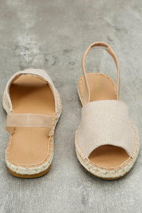 Oceanic Natural Espadrille Sandals 3
