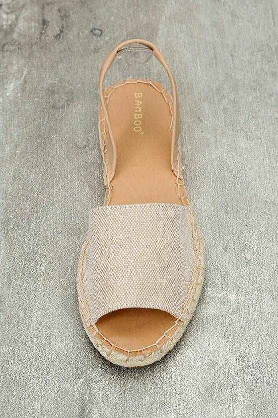 Oceanic Natural Espadrille Sandals 5