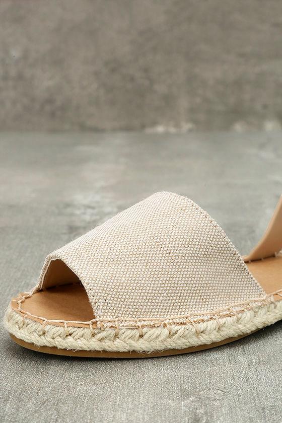 Oceanic Natural Espadrille Sandals 6