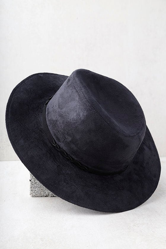 What I Like Black Suede Fedora Hat 3