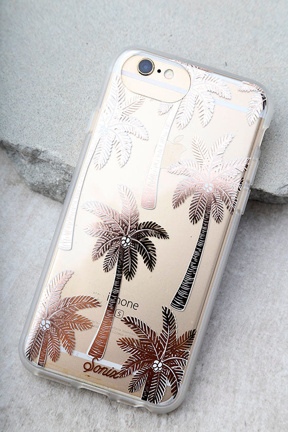 Sonix Vintage Palm Rose Gold Print iPhone 7 Case 1