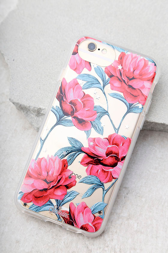 Sonix Auroura Clear and Pink Floral Print iPhone 7 Case 1
