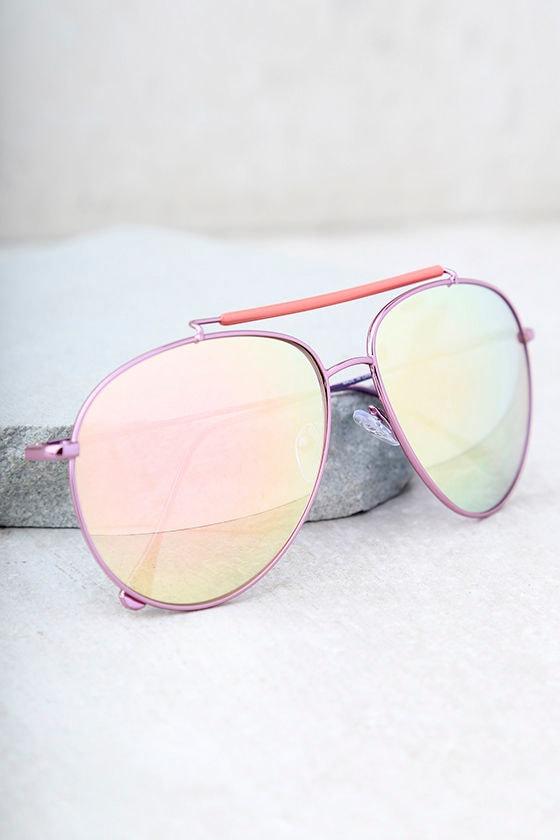 d79d7b4c70 Cool Pink Sunglasses - Mirrored Aviators - Mirrored Sunglasses -  17.00