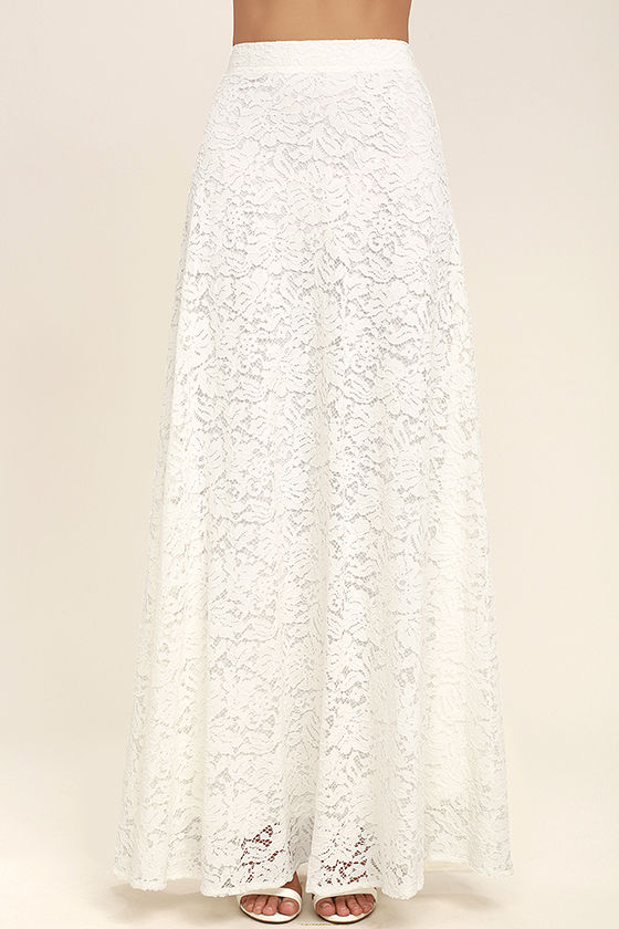 Love at First Sight White Lace Two-Piece Maxi Dress 5