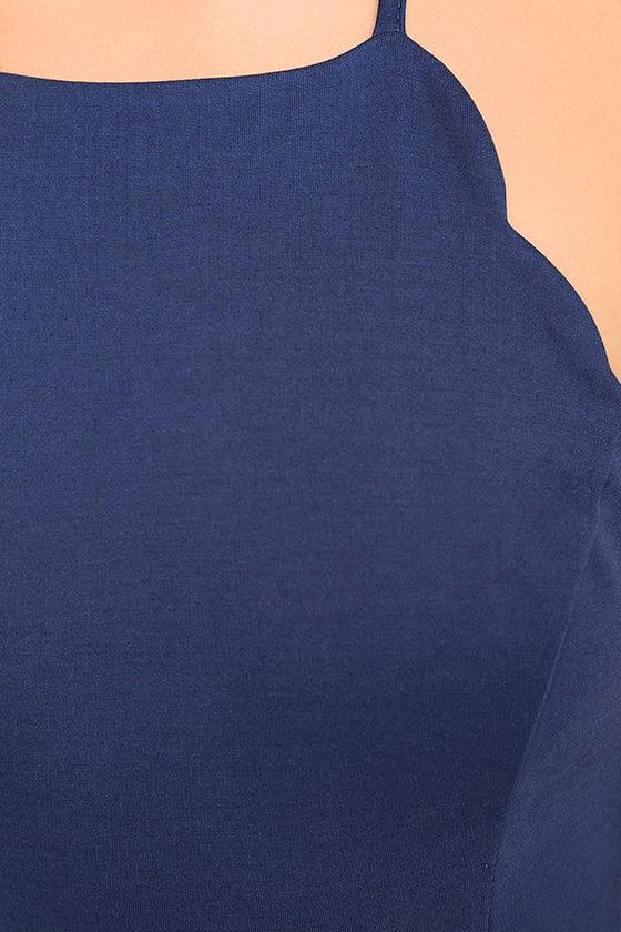 Heart's Content Royal Blue Bodycon Dress 6