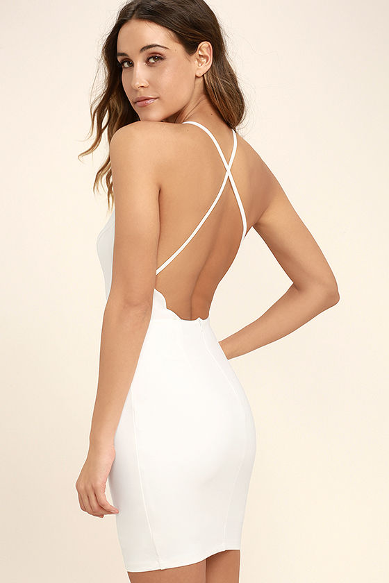 Heart's Content White Bodycon Dress 1