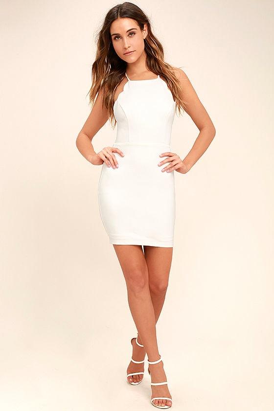 Heart's Content White Bodycon Dress 2