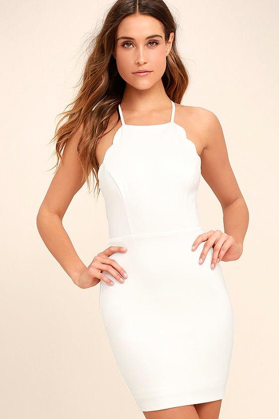 Heart's Content White Bodycon Dress 3