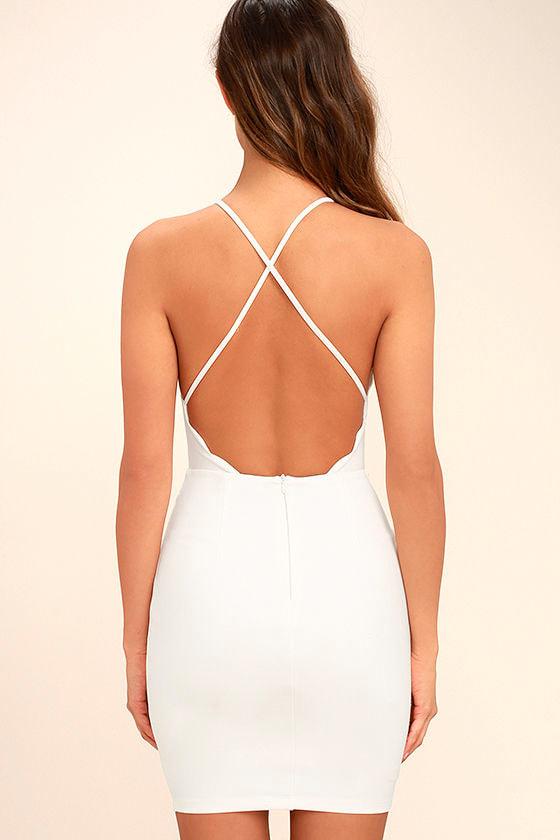 Heart's Content White Bodycon Dress 4