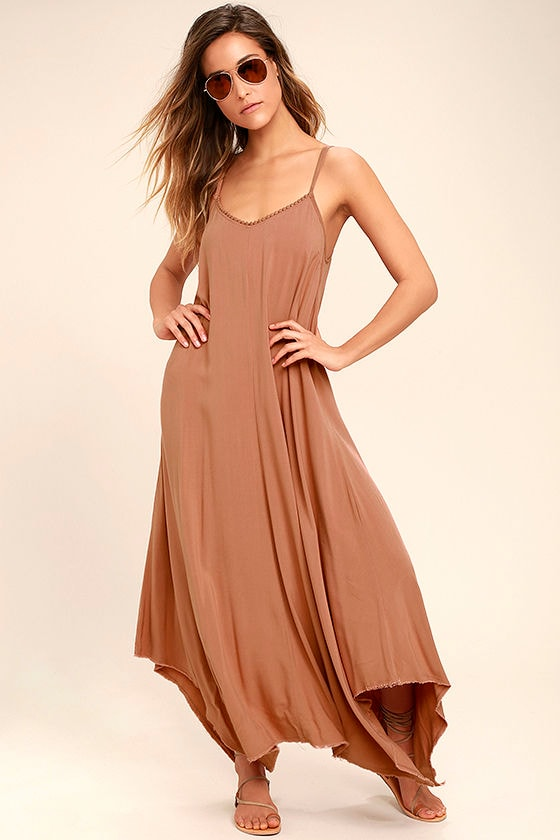 Others Follow Kiara Rusty Rose Maxi Dress 1