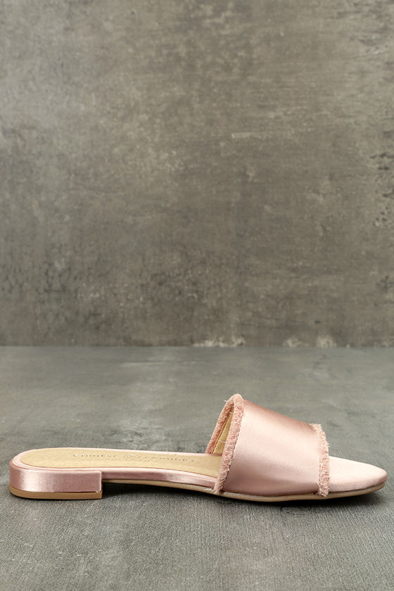 Chinese Laundry Pattie Summer Nude Satin Slide Sandals 4