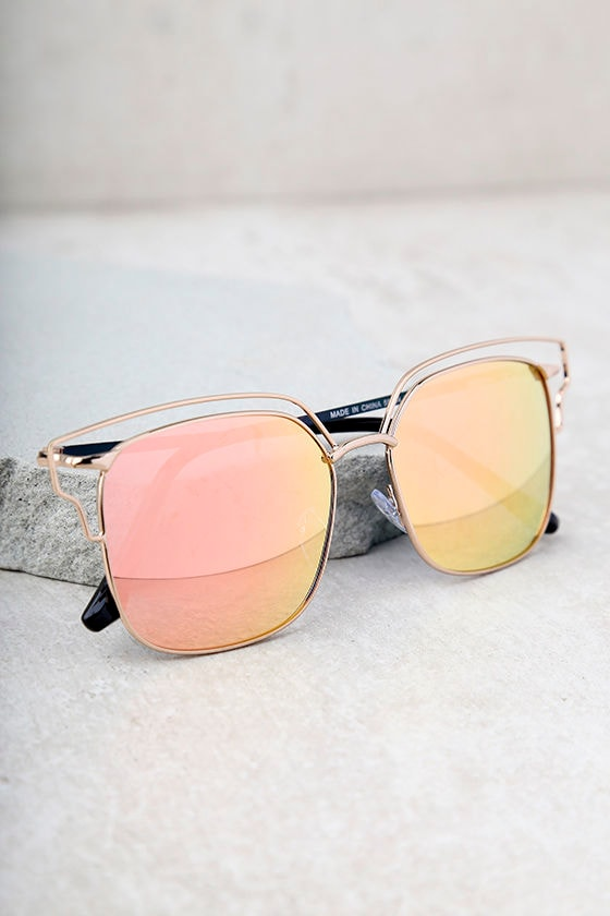 b940293819 Cool Gold and Pink Sunglasses - Mirrored Sunglasses - Sunnies -  20.00