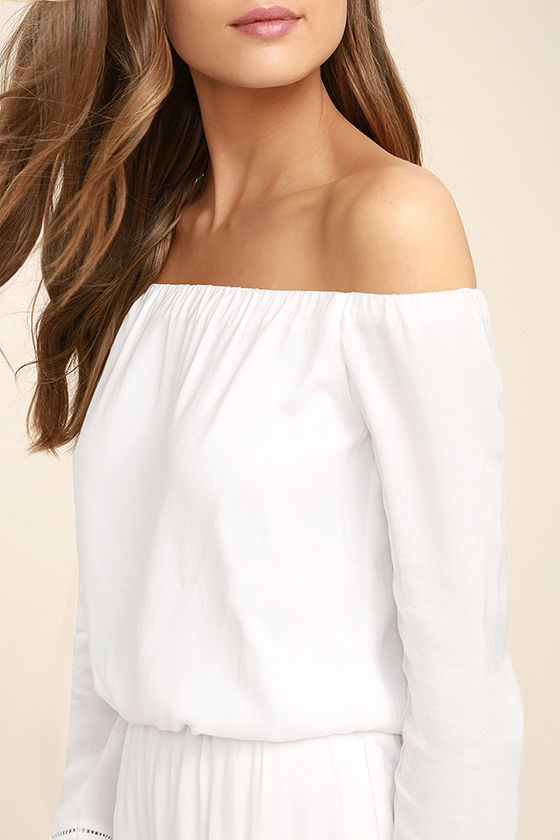 Tavik Carey White Off-the-Shoulder Romper 5