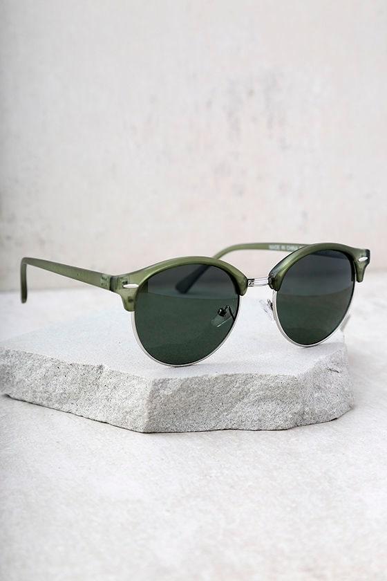 Digging It Matte Olive Green Sunglasses 3