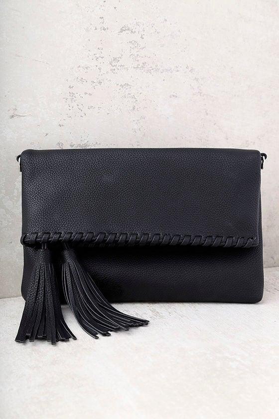 Olinda Black Tassel Clutch 2