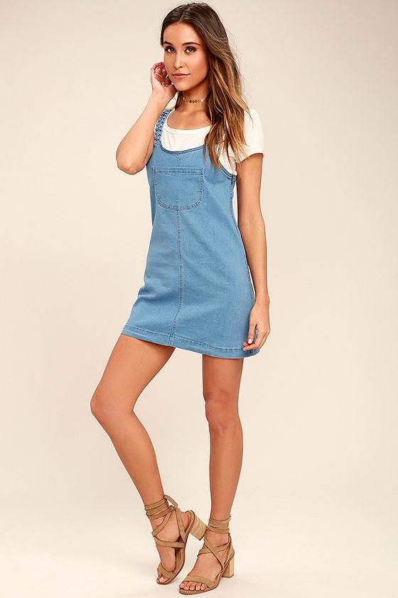 e413c7e8663 Cute Blue Dress - Denim Pinafore - Pinafore Dress - Overall Dress -  58.00