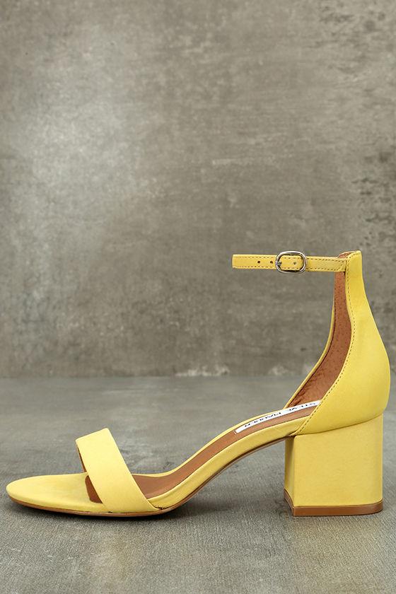 380b056c421c Steve Madden Irenee - Yellow Heels - Ankle Strap Heels - Heeled ...