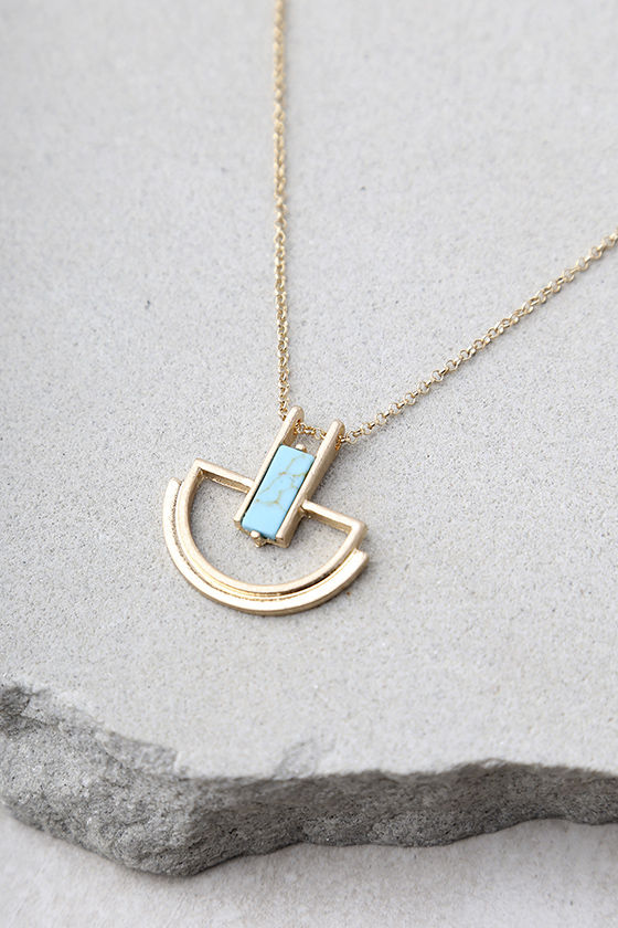 Cortez Gold and Turquoise Necklace 3