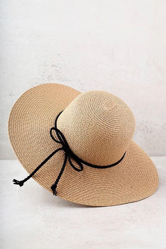 My Paradise Tan Floppy Straw Hat 3