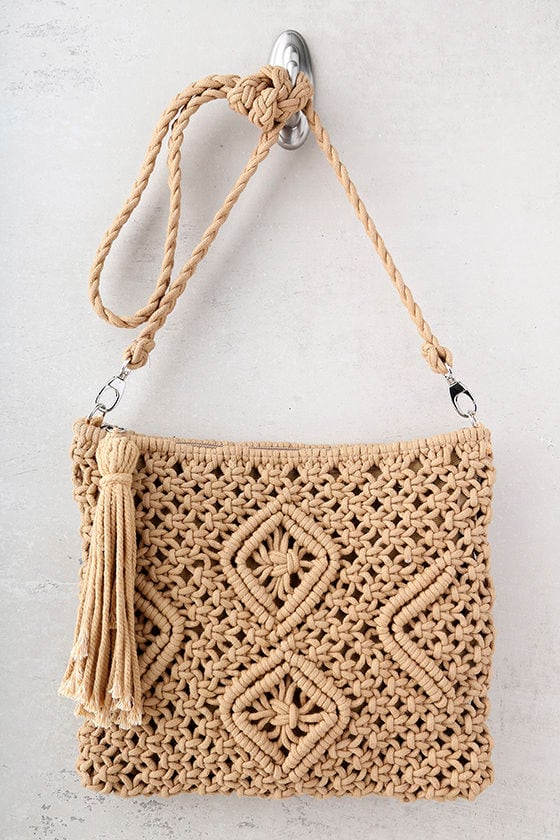 Kaia Tan Crocheted Crossbody Purse 2