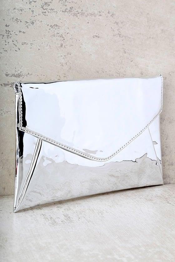 ef951cfc451 Cute Silver Clutch - Metallic Clutch - Envelope Clutch - $33.00
