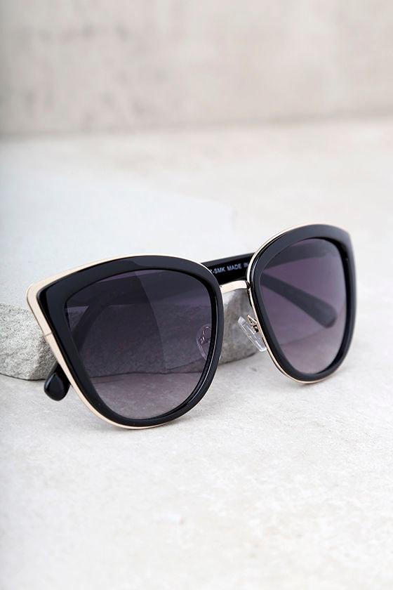 Living it Up Black Cat-Eye Sunglasses 5