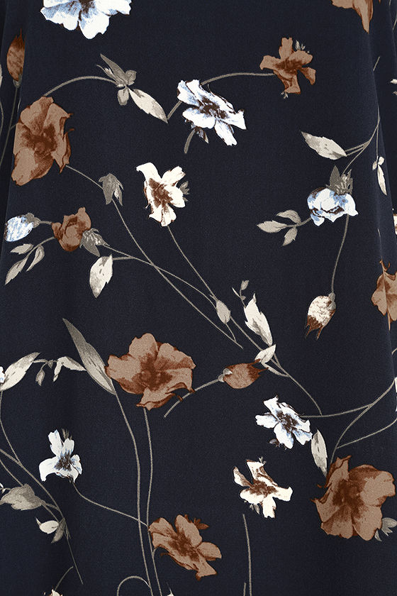 Willow and Behold Navy Blue Floral Print Dress 6