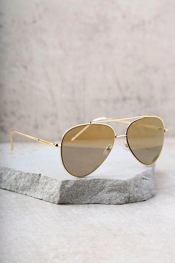 Perverse Bronson Gold Mirrored Aviator Sunglasses 3