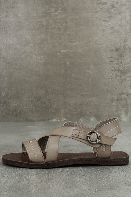 Blowfish Drum Birch Taupe Flat Sandals 1