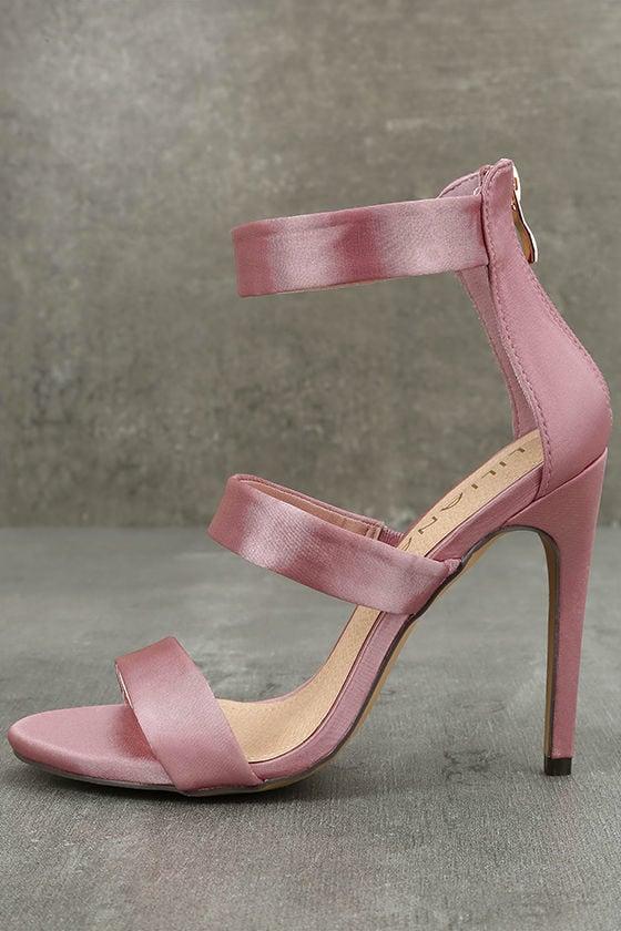 Bellanca Dusty Pink Ankle Strap Heels 2