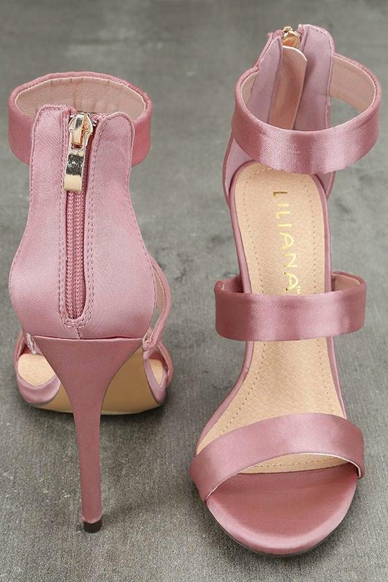 Bellanca Dusty Pink Ankle Strap Heels 3