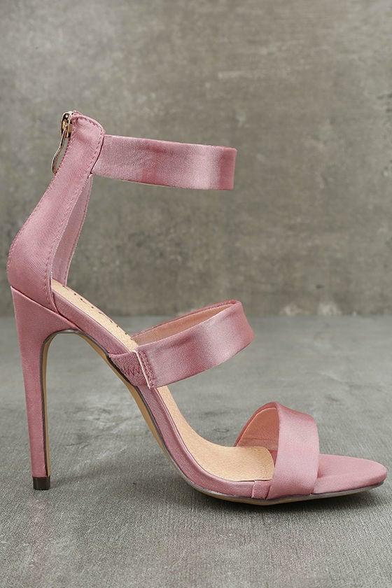 Bellanca Dusty Pink Ankle Strap Heels 4