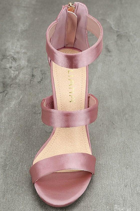 Bellanca Dusty Pink Ankle Strap Heels 5