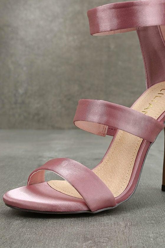 Bellanca Dusty Pink Ankle Strap Heels 6