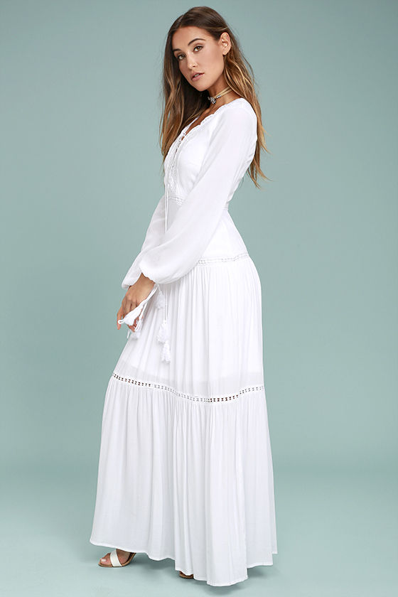 Queen of the Wildflowers White Lace Maxi Dress 2