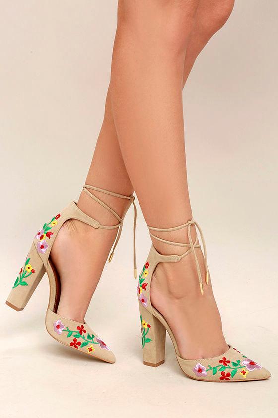 Cute Nude Pumps Nude Heels Vegan Pumps High Heels