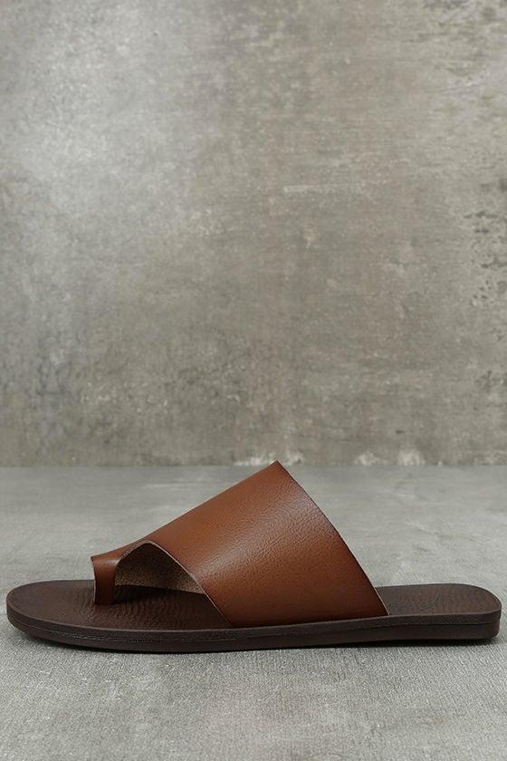 Blowfish Dalla Scotch Tan Slide Sandals 1