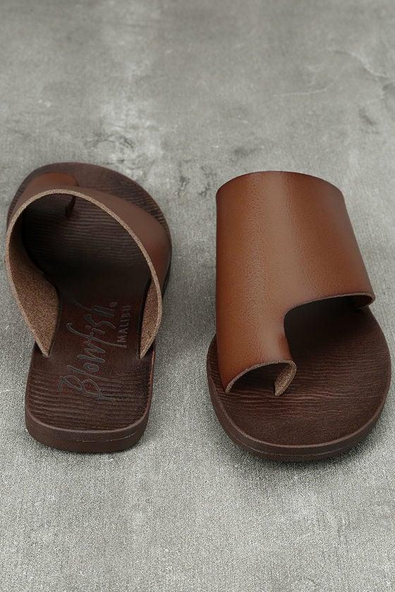 Blowfish Dalla Scotch Tan Slide Sandals 3