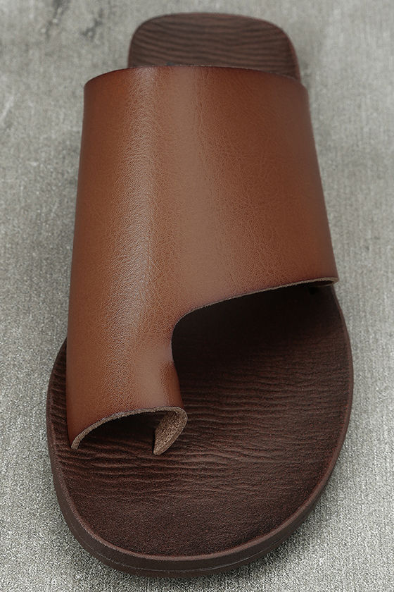 Blowfish Dalla Scotch Tan Slide Sandals 5