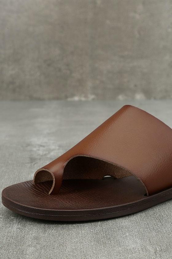 Blowfish Dalla Scotch Tan Slide Sandals 6