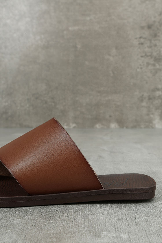 Blowfish Dalla Scotch Tan Slide Sandals 7