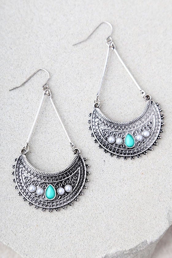 4a84adf55c099 Imogene Turquoise and Silver Earrings