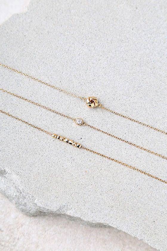Teensy Treasures Gold Choker Necklace Set 2