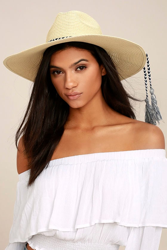 New Me Beige Floppy Straw Hat 1